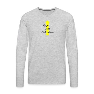 r d black 2Fyellow on trans - Men's Premium Long Sleeve T-Shirt