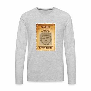 Winjer Nuxx Flat Earther - Men's Premium Long Sleeve T-Shirt