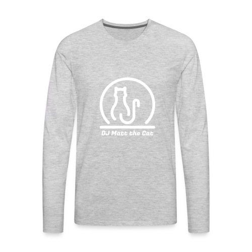 DJ Matt the Cat Logo - Men's Premium Long Sleeve T-Shirt