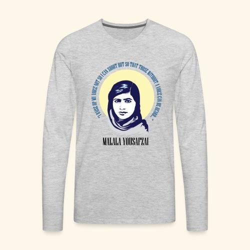 Malala - Those Without a Voice - Men's Premium Long Sleeve T-Shirt