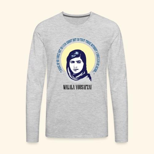Malala - Those Without a Voice - Men's Premium Long Sleeve T-Shirt