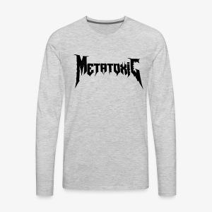 METATOXIC Text Logo (Black) - Men's Premium Long Sleeve T-Shirt