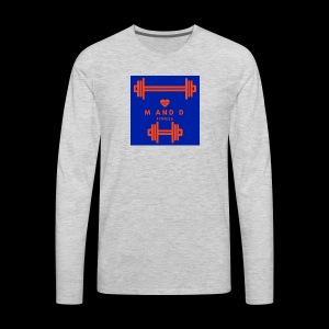 M and D Fitness Logo - Men's Premium Long Sleeve T-Shirt