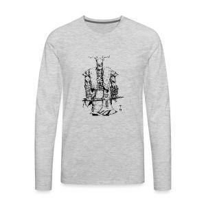 Viking warrior - Men's Premium Long Sleeve T-Shirt