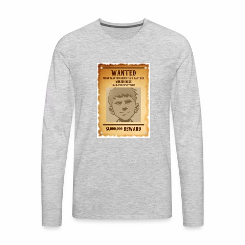 Winjer Nuxx Flat Earther - Men's Premium Long Sleeve T-Shirt