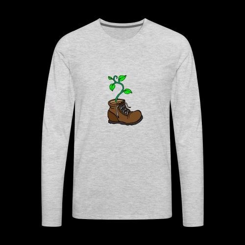 Plant In Boot - Men's Premium Long Sleeve T-Shirt
