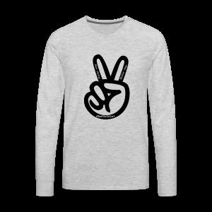 peace sign phifer army merch - Men's Premium Long Sleeve T-Shirt