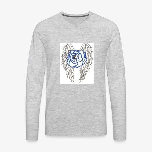 Flying rose - Men's Premium Long Sleeve T-Shirt
