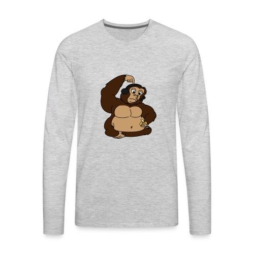 fat monkey v2 by playfulpossum d5r83ik - Men's Premium Long Sleeve T-Shirt