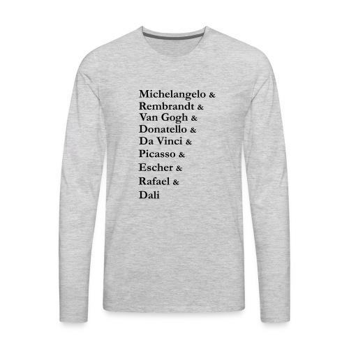 Great Artists - Men's Premium Long Sleeve T-Shirt