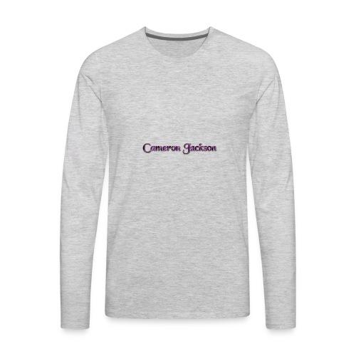 Cameron Jackson Lightning Logo - Men's Premium Long Sleeve T-Shirt
