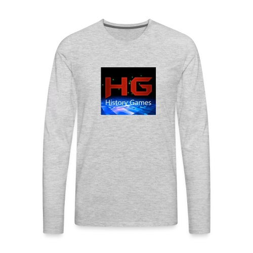 Nuevo logo History Games - Men's Premium Long Sleeve T-Shirt