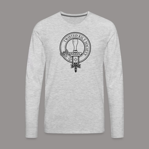 Twisted Kilt Society Crest - Men's Premium Long Sleeve T-Shirt