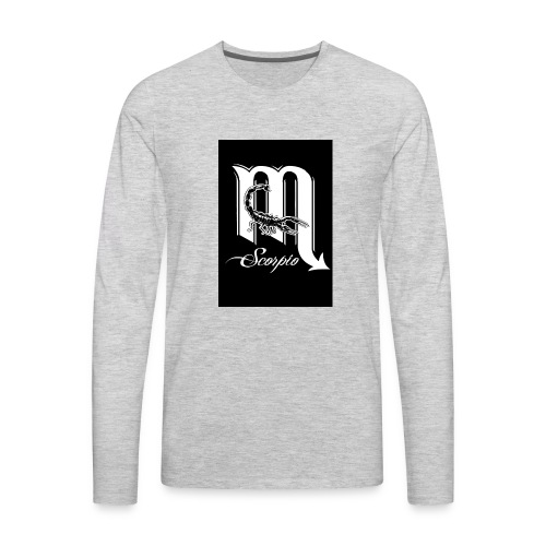 LEVEL ONE SCORPIO ART - Men's Premium Long Sleeve T-Shirt