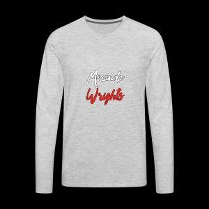 Miranda Wrights Logo - Men's Premium Long Sleeve T-Shirt