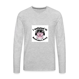 I enlisted in Beefcake's Army - Men's Premium Long Sleeve T-Shirt