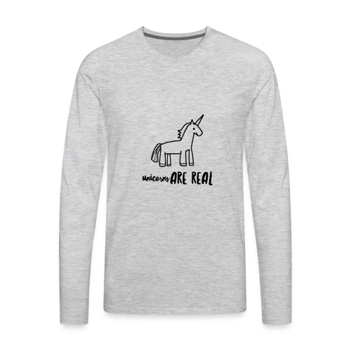 Unicorns Are Real - Men's Premium Long Sleeve T-Shirt
