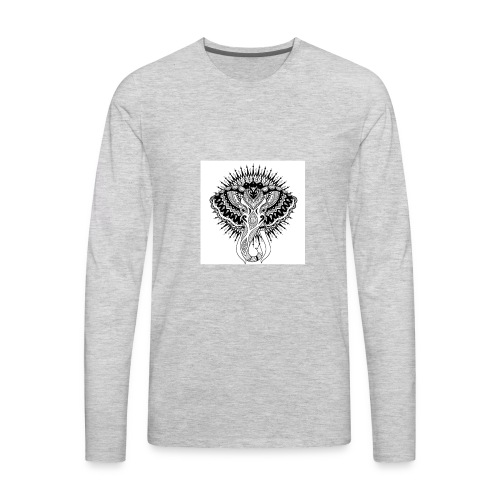 beautiful abstract elephant - Men's Premium Long Sleeve T-Shirt
