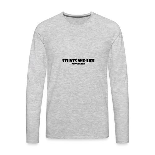 stunts and life - Men's Premium Long Sleeve T-Shirt