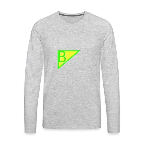 Neon green superman - Men's Premium Long Sleeve T-Shirt