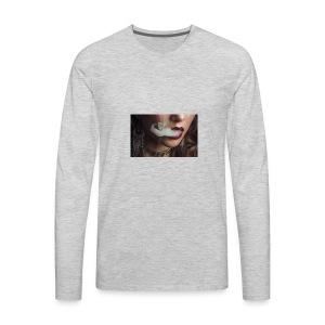 smoking woman 1 - Men's Premium Long Sleeve T-Shirt