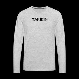 Takeon Logo Simple - Men's Premium Long Sleeve T-Shirt