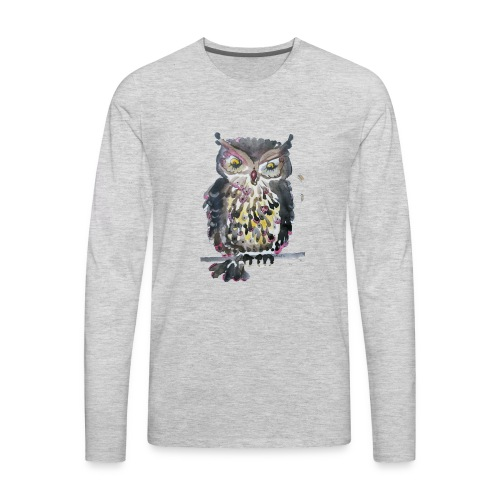 Barnacle Woot Owl - Men's Premium Long Sleeve T-Shirt