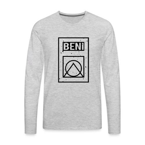 GEOMETRICAL_BLACK_MINI - Men's Premium Long Sleeve T-Shirt