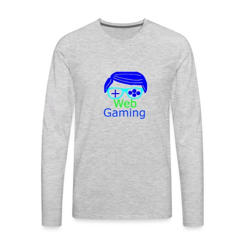 New Web Gaming Channel Logo - Men's Premium Long Sleeve T-Shirt