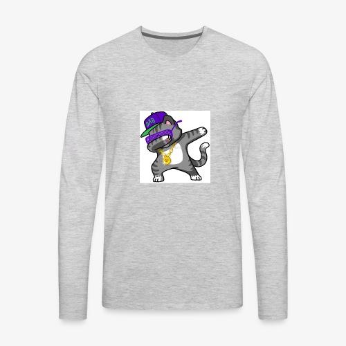 dabbing cat - Men's Premium Long Sleeve T-Shirt