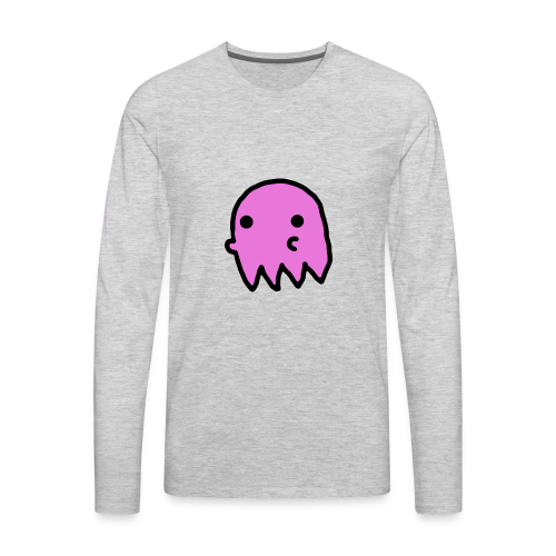 Pink Ghost - Men's Premium Long Sleeve T-Shirt
