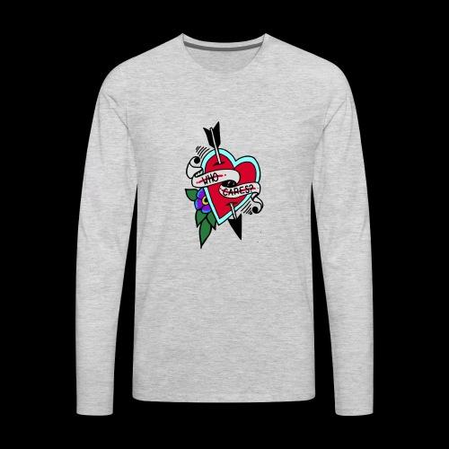 Who Cares? Anti-Valentine's Day - Men's Premium Long Sleeve T-Shirt