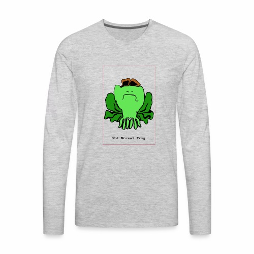 not normal frog - Men's Premium Long Sleeve T-Shirt