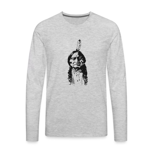 Vintage Indian Native American Funny - Men's Premium Long Sleeve T-Shirt