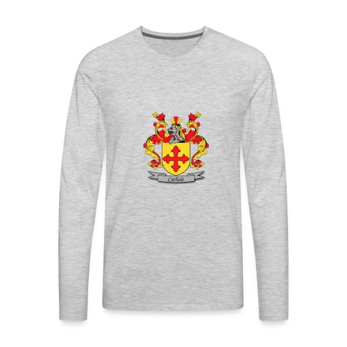 Carlisle Family Crest - Men's Premium Long Sleeve T-Shirt