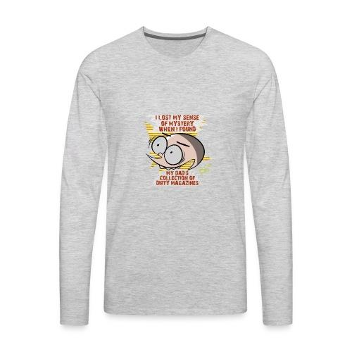Sense of Mystery quote - Men's Premium Long Sleeve T-Shirt