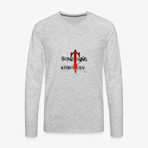 Something Supernatural LOGO 2 - Men's Premium Long Sleeve T-Shirt