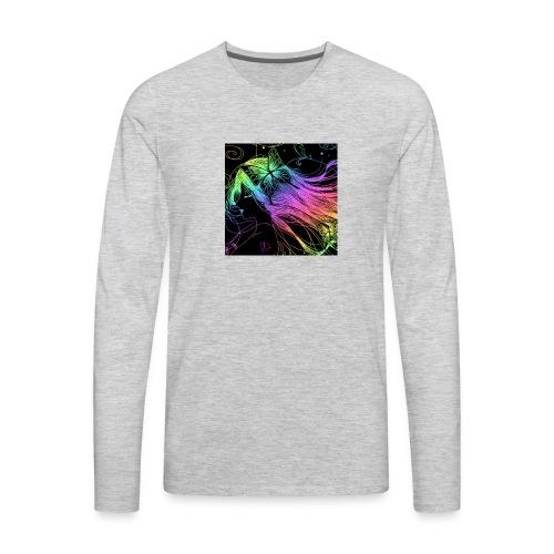 Multi colored rainbow sketched merch - Men's Premium Long Sleeve T-Shirt