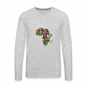 AfricaMap - Men's Premium Long Sleeve T-Shirt