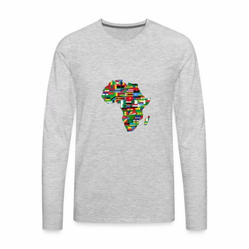 AfricaMap - Men's Premium Long Sleeve T-Shirt