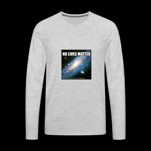 no lives matter - Men's Premium Long Sleeve T-Shirt