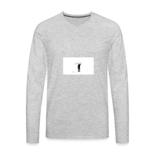 463034 men simple background digital art graffiti - Men's Premium Long Sleeve T-Shirt