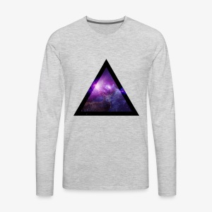 Galaxy with Deer - Men's Premium Long Sleeve T-Shirt