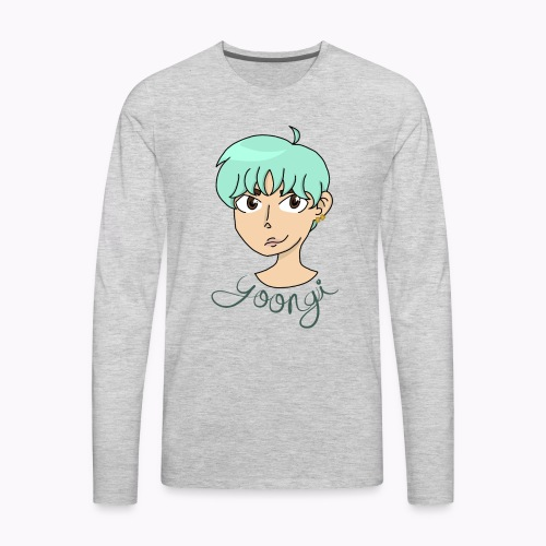 Min Yoongi - Men's Premium Long Sleeve T-Shirt