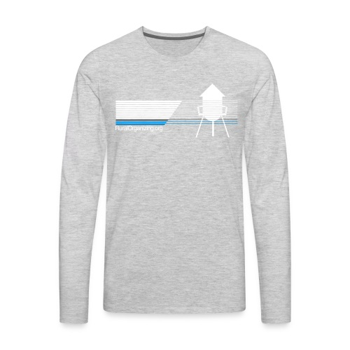 RuralOrganizing.org Lines - Men's Premium Long Sleeve T-Shirt