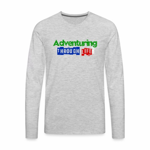 Adventuring through life text color - Men's Premium Long Sleeve T-Shirt