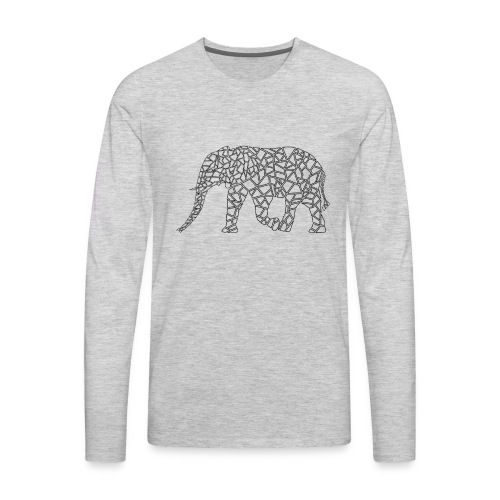 Elephant Geometric - Men's Premium Long Sleeve T-Shirt