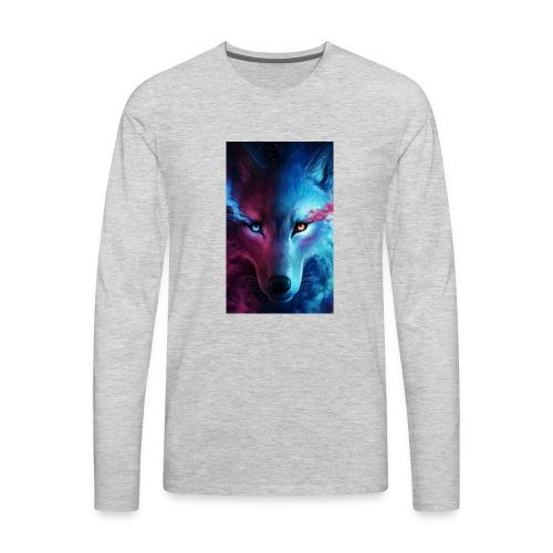 Wolf 44f62aed 5d06 3524 b855 47d7281f9ffb - Men's Premium Long Sleeve T-Shirt