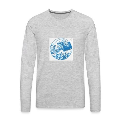 Wave - Men's Premium Long Sleeve T-Shirt