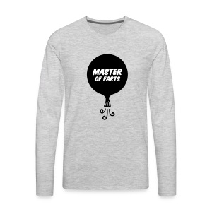 Master of Farts (2 color) - Men's Premium Long Sleeve T-Shirt